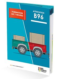 Permis E - remorque - caravane - Attestation B96 formation 7 heures remorque